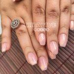 Nude Nägel mit Meerjungfrauen Glimmer bei Creative Nails