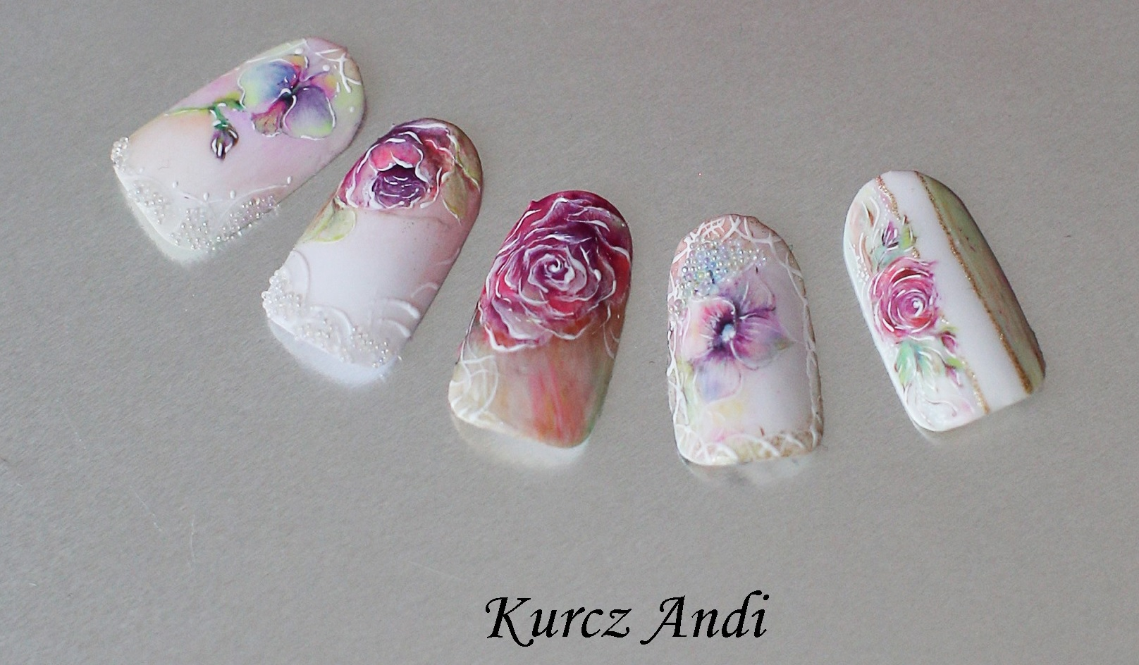 Aquarell Art - Creative Nails Schulung mit Andrea Kurcz