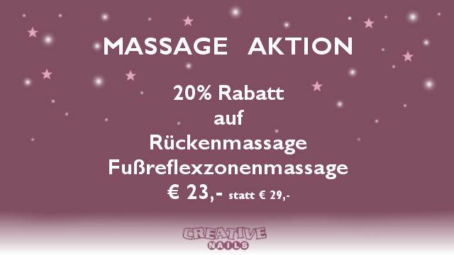Massage Aktion